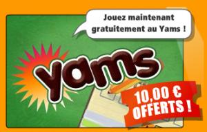 Yams sur GameDuell - 10 euros offerts